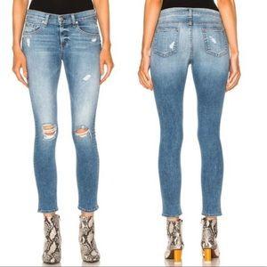 Rag & Bone Distressed Denim Capri Jeans